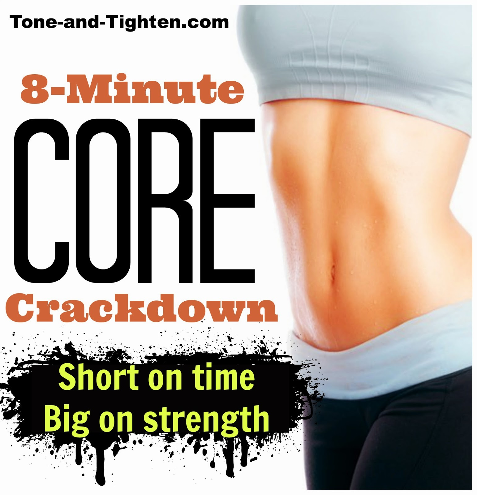 8 Minute Core Down Quick Muscle Workout