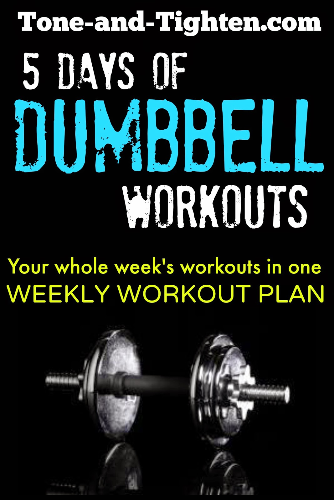 Weekly Workout Plan 5 Days Of Great Dumbbell Workouts To