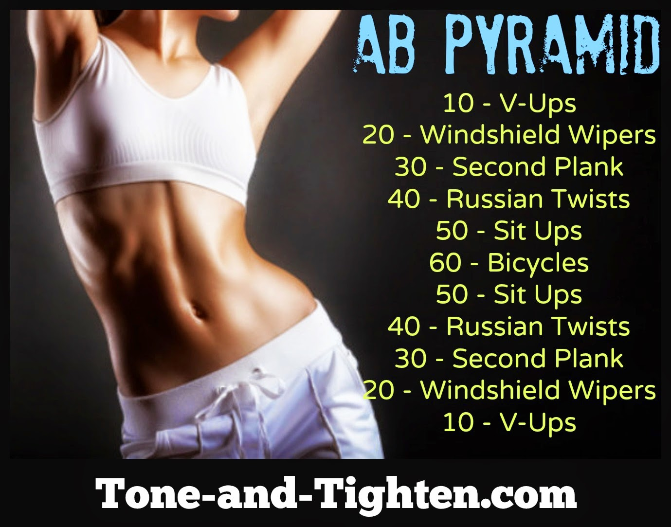At Home Ab Workout Climb The Pyramid Today