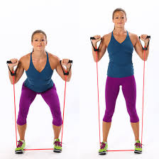 resistance band squats