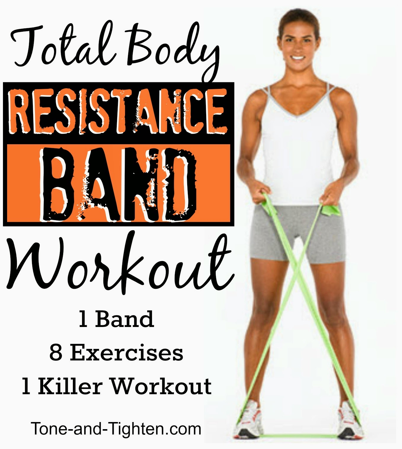 Total Body Resistance Band Workout Exercise Fitness Best