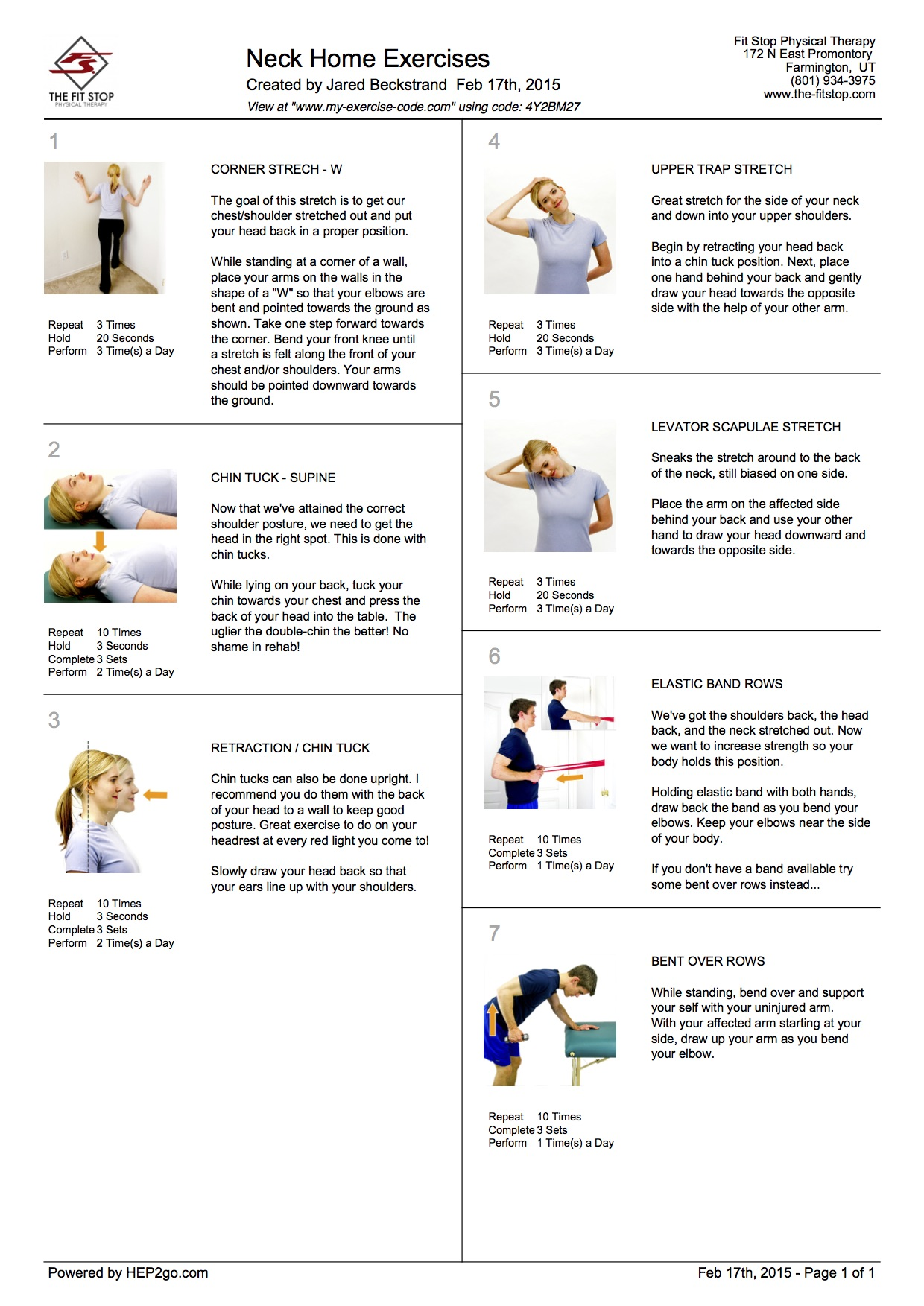 Feel Better Now Series – Home exercises to treat neck pain ...