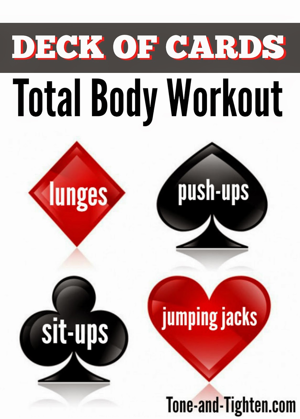 Deck Of Cards At Home Total Body Workout | Tone And Tighten