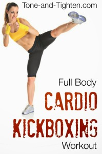 Full Body Cardio Kickboxing Workout Tone and Tighten