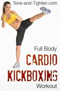 Full Body Cardio Kickboxing Workout Tone and Tighten