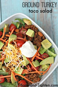 Ground Turkey Taco Salad Recipe from Tone-and-Tighten