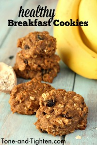 Healthy Breakfast Cookies Recipe Bananas Peanut Butter