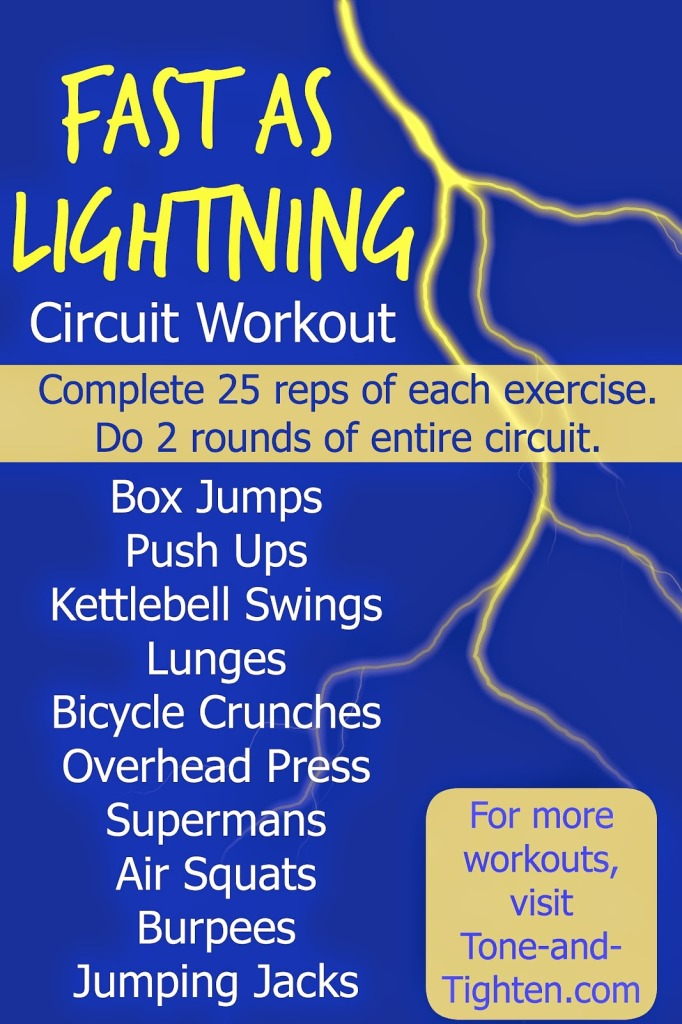 fast as lightning circuit workout total body tone and tighten