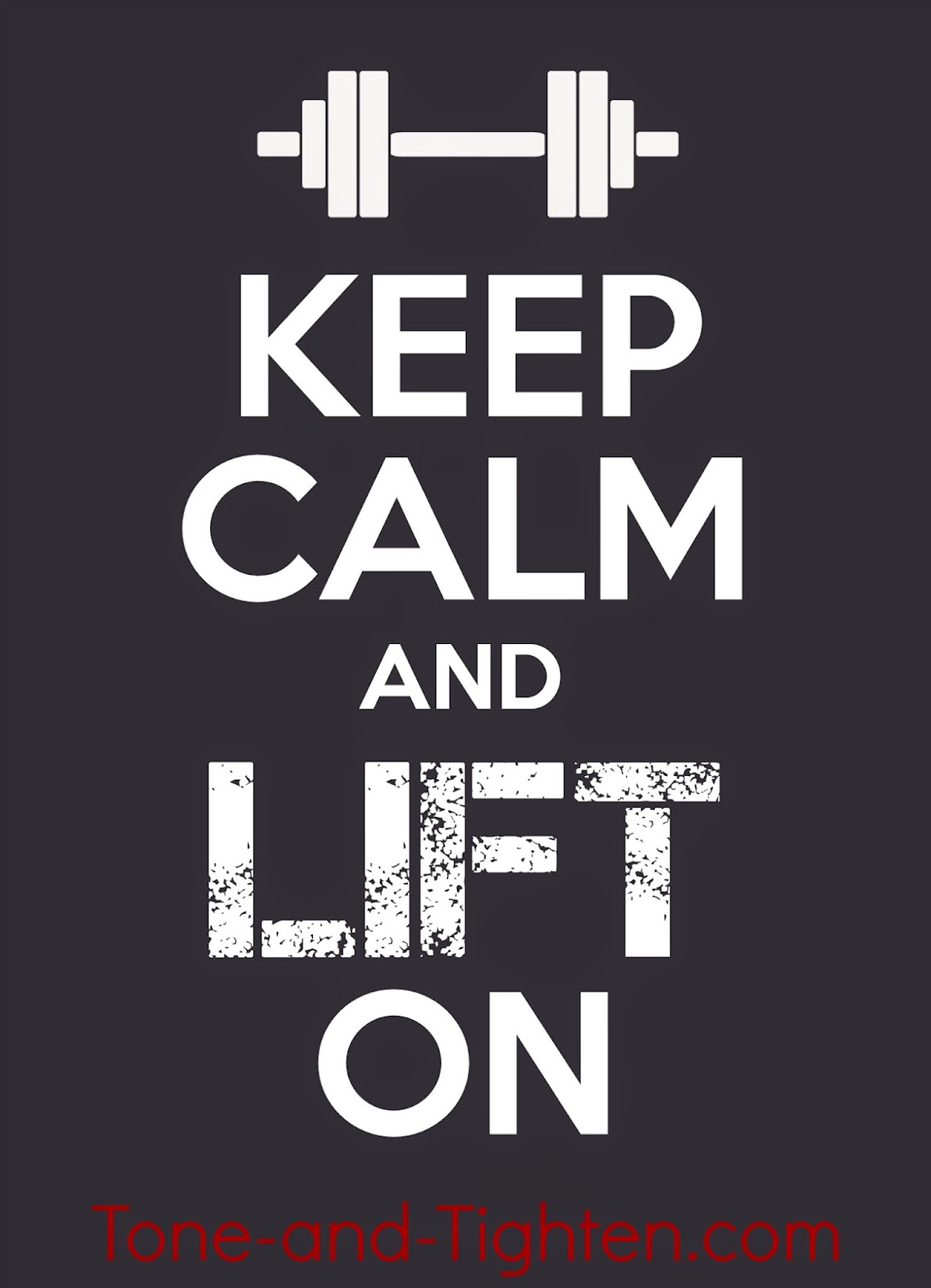 Fitness Motivation – Keep Calm and Lift On Poster – What's Your Passion? | Tone and Tighten