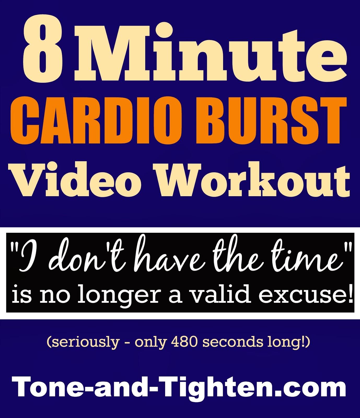 Wonderful 8 Minute Cardio Burst Video Workout Design