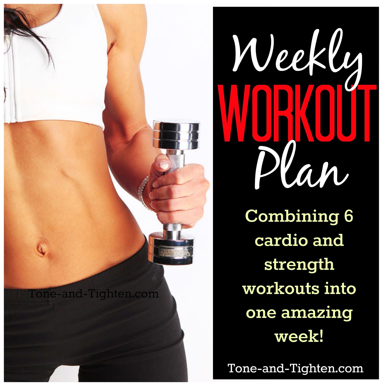 Weekly Workout Plan Cardio and Strength Cross Training 6 days – Weekly Workout Plan