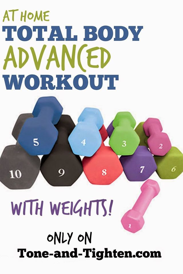 At Home Total Body Advanced Workout With Weights