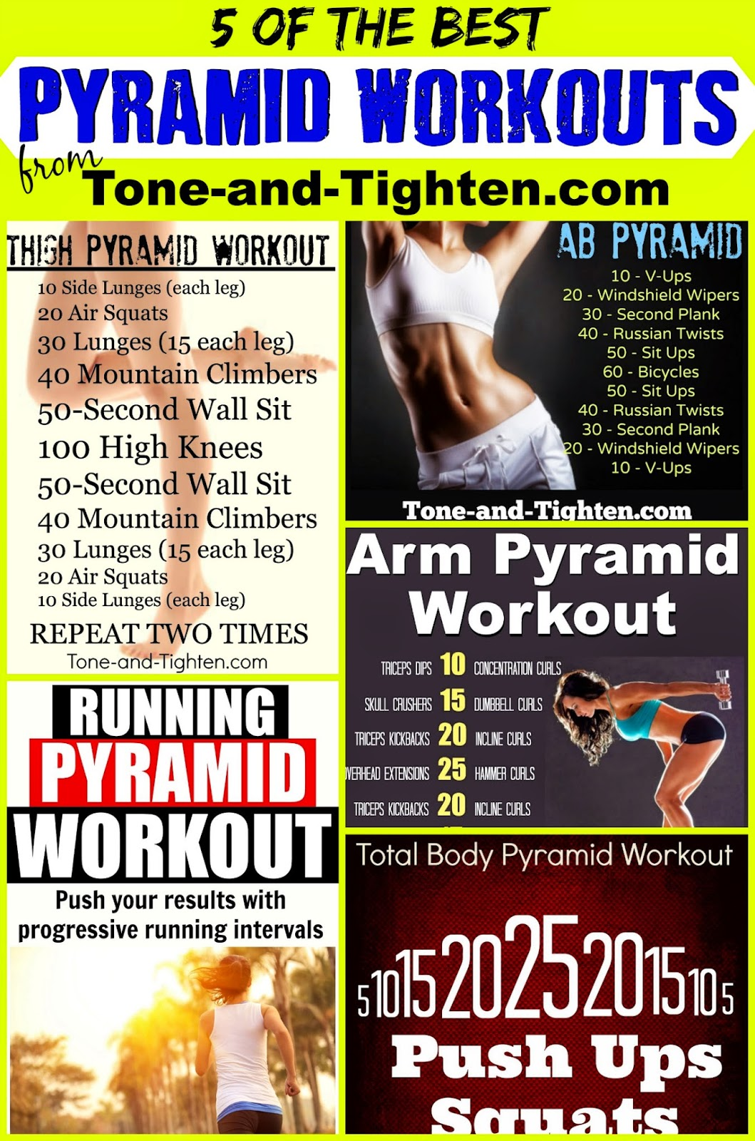 Weekly Workout Plan – One Week of Pyramid Workouts – All The Best ...
