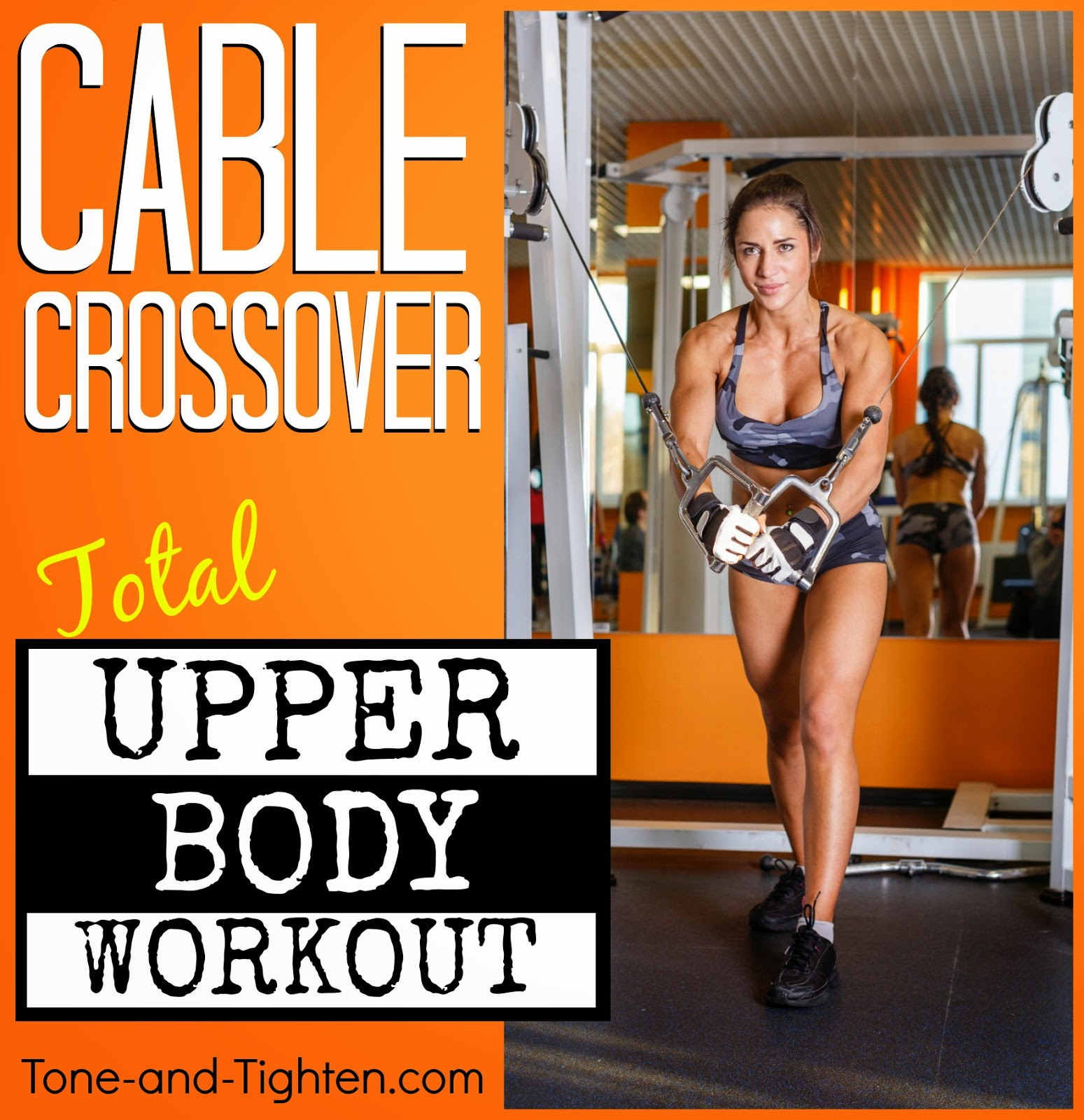 The best upper body cable exercises in one amazing workout. How to tighten your chest, shoulders, arms, and back.