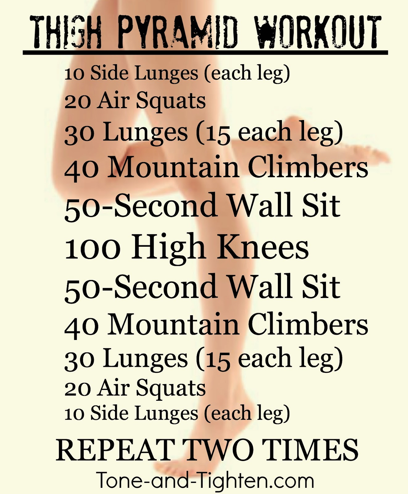 Weekly Workout Plan – One Week of Pyramid Workouts – All ...