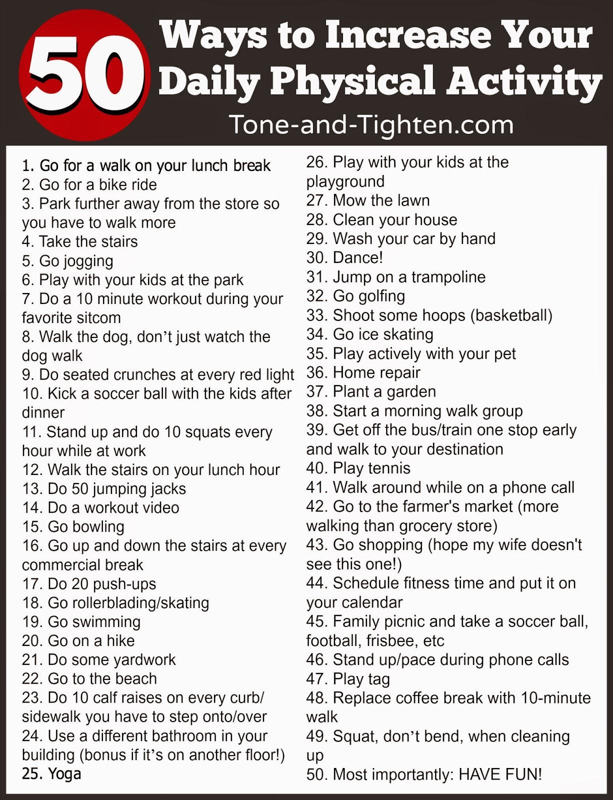 50 Simple Ways To Get Healthier