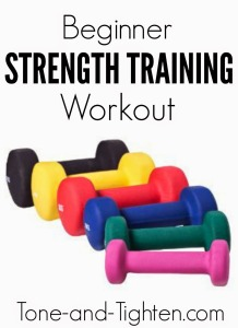 Beginner Strength Training Workout Tone and Tighten
