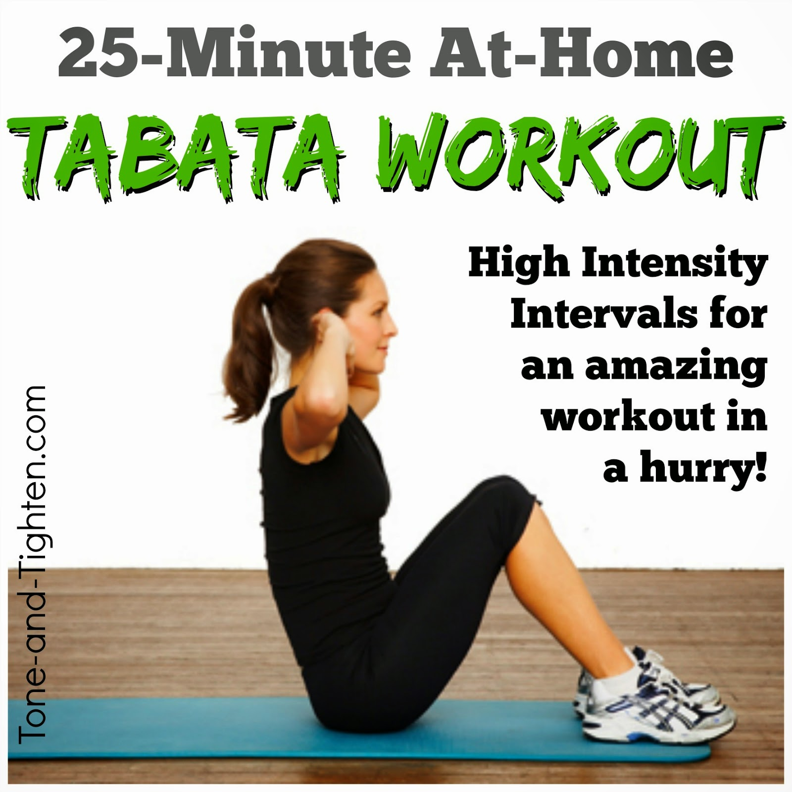 Interval workouts to tone and tighten