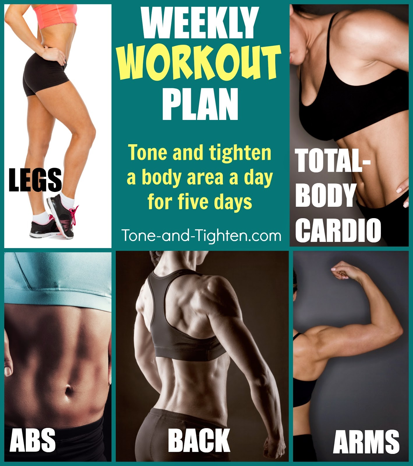 Weekly Workout Plan Tone And Tighten Your Whole Body With This Amazing Week Of Free Workouts