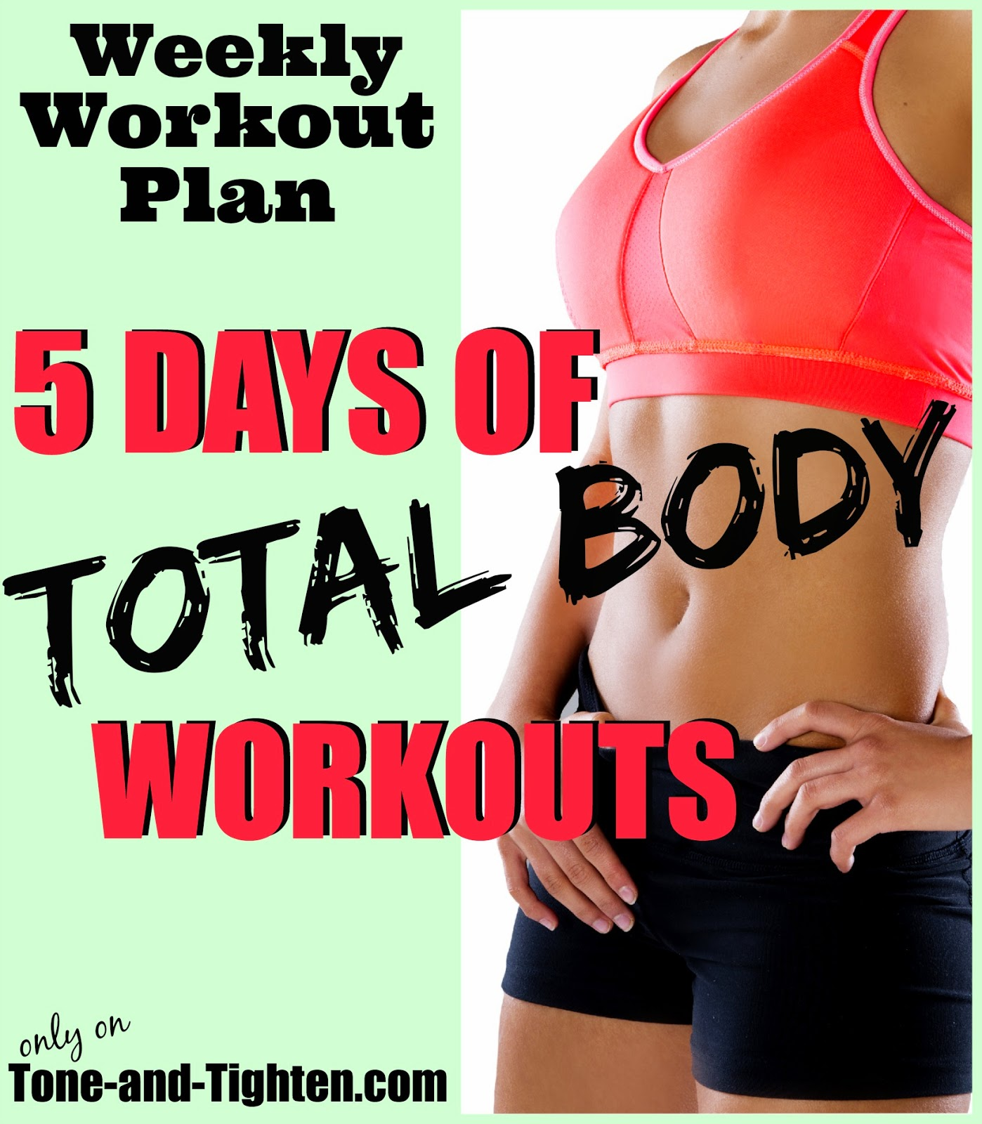 Free Weights Total Body Workout: 5 Days Of Total-body Workouts To