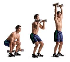 dumbbell clean and press