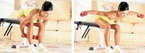 at home dumbbell reverse flys back fat exercise