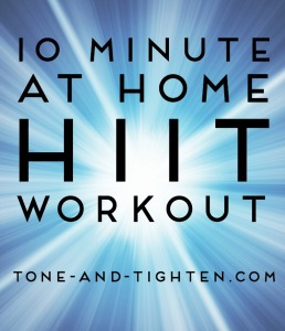 10 Minute At Home HIIT Workout on Tone-and-Tighten