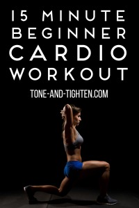 15 Minute Beginner Cardio Workout on Tone-and-Tighten
