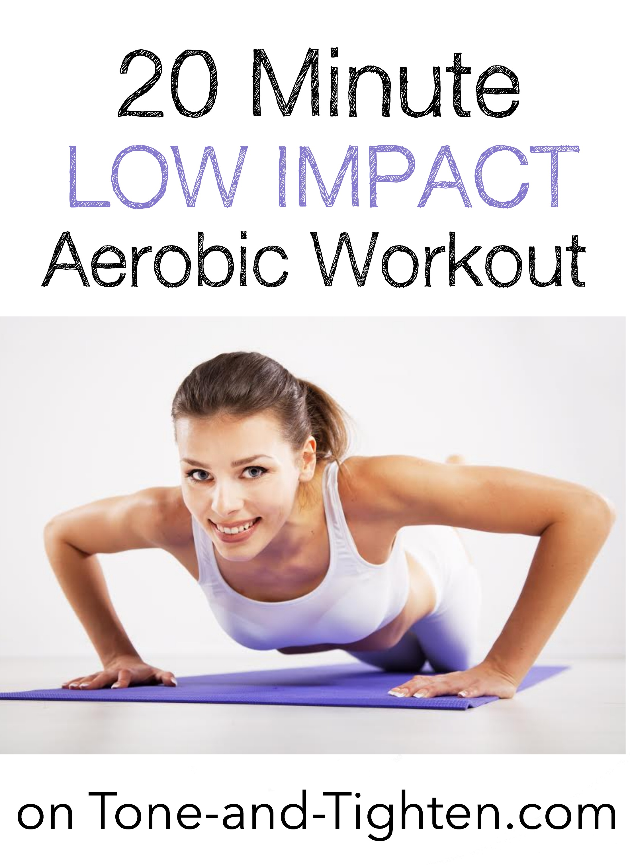 20 Minute Low Impact Aerobics Workout | Tone and Tighten