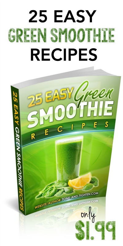 25 Easy Green Smoothie Recipes from Tone-and-Tighten.com