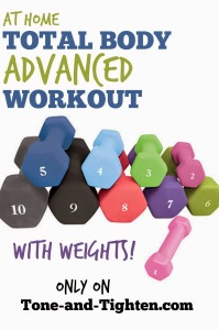 At Home Total Body Workout With Weights