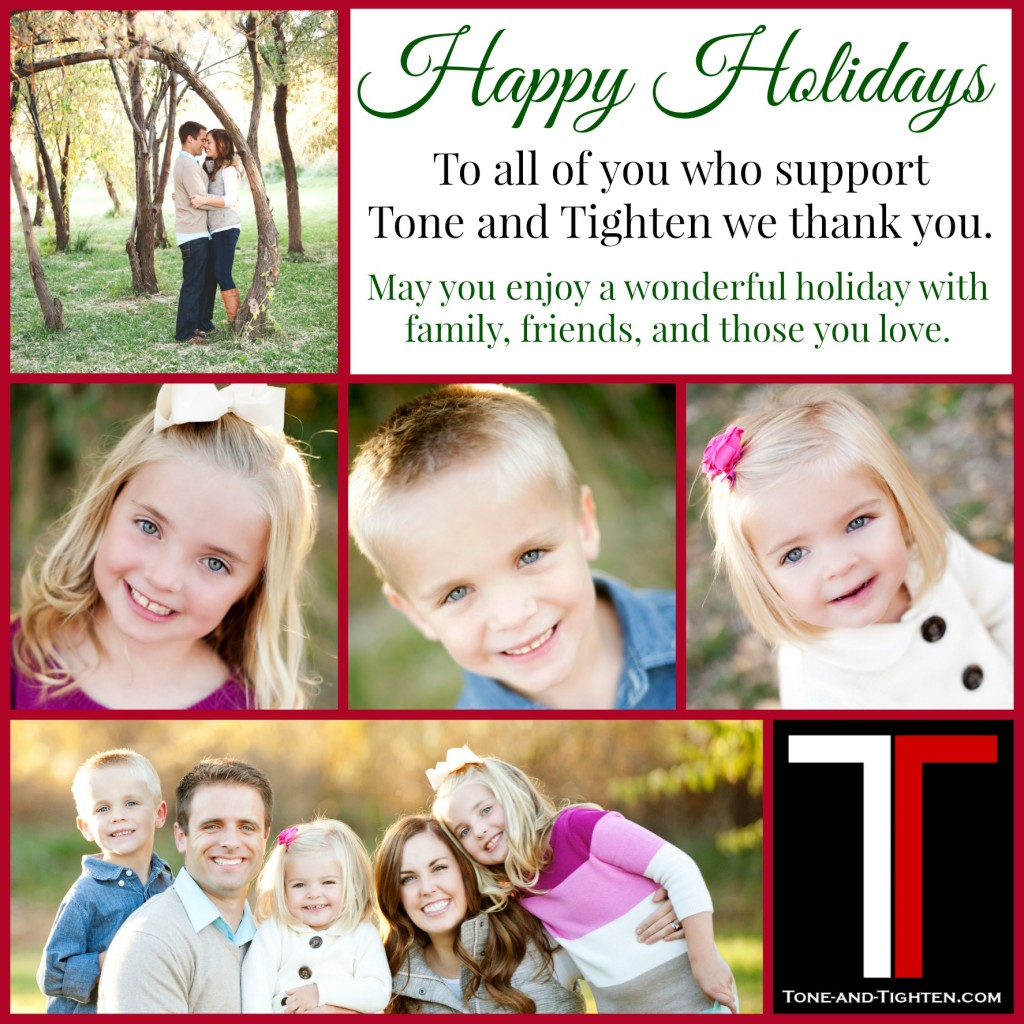 Tone and Tighten Christmas Card