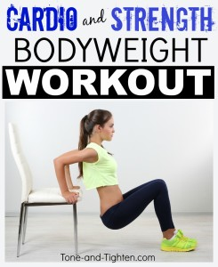 cardio and strength bodyweight workout tone and tighten