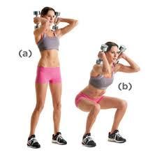 dumbbell squat shoulders