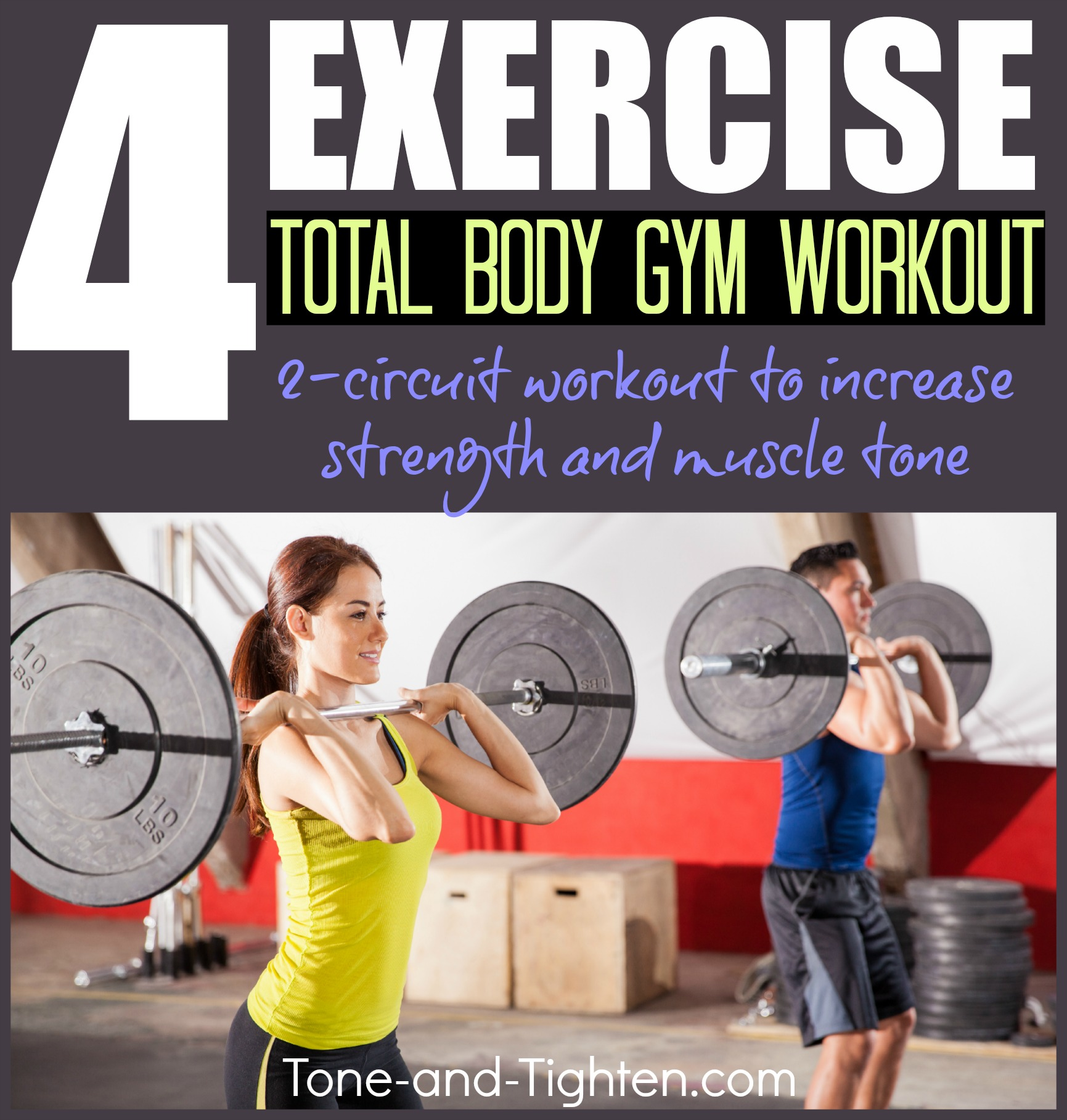 Quick Total Body Gym Circuit Workout 4 Exercise