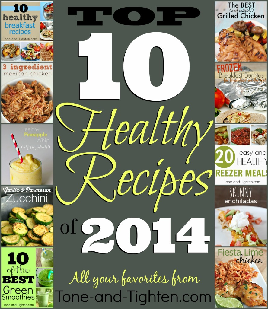 top 10 ten best healthy recipes skinny meals of 2014 on tone and tighten