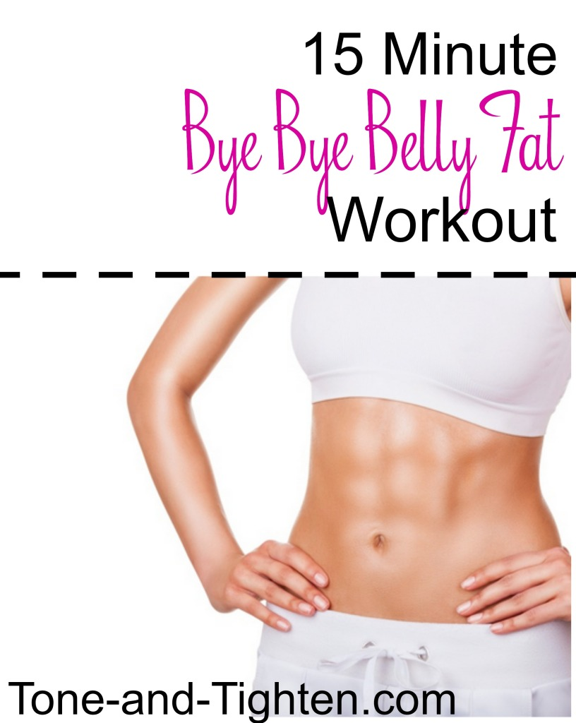 15 Minute No More Belly Fat Cardio on Tone-and-Tighten