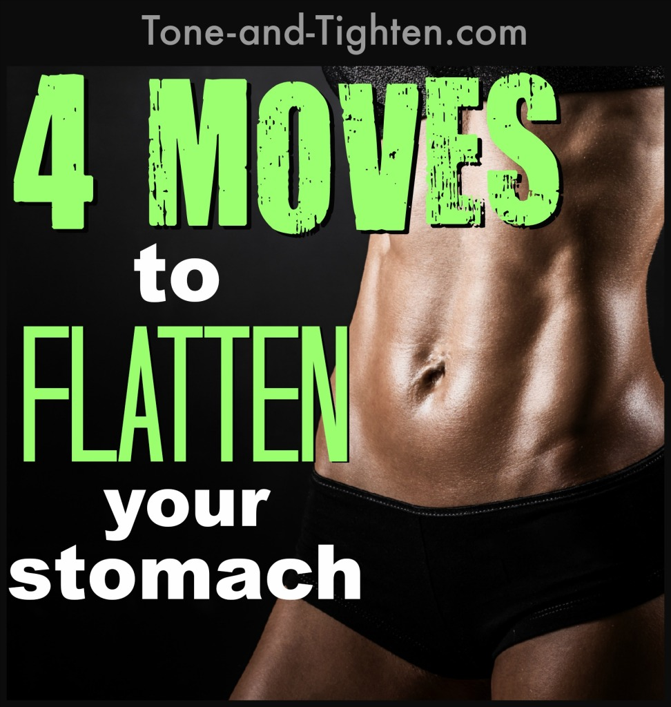 4 of the best ab exercises for a toned, flat stomach. Tone and tighten your abs with this great workout.