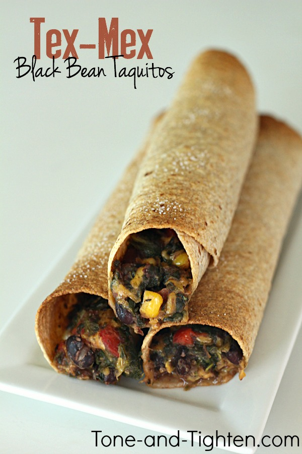 Baked Tex-Mex Black Bean Taquitos on Tone-and-Tighten