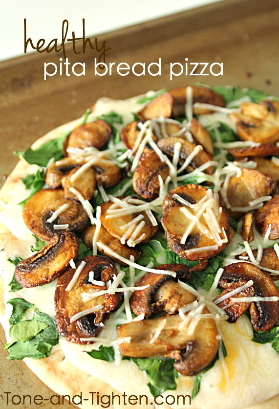 Healthy Pita Bread Pizza on Tone-and-Tighten