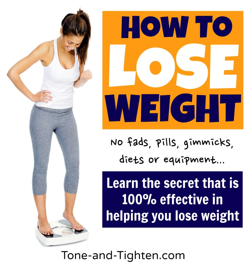 how to lose weight the healthy way from tone and tighten