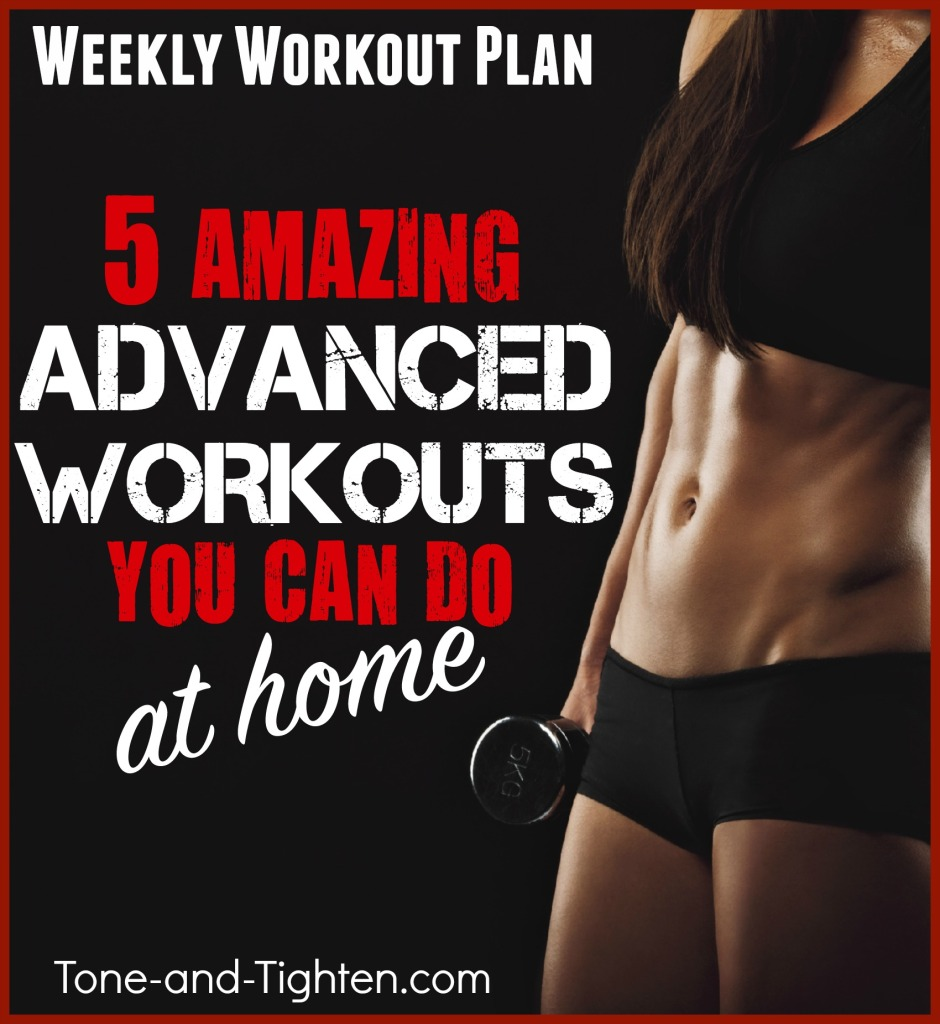 intermediate advanced workout plan tone and tighten at home