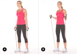 resistance band curl