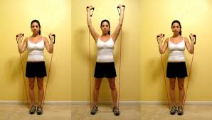resistance band military press