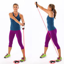 resistance band reverse chop