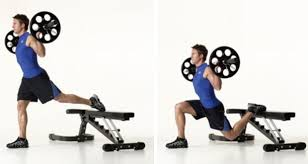 weighted bulgarian split squat