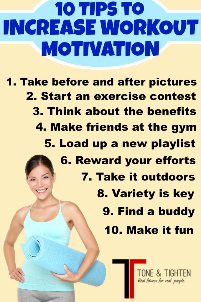 10 tips to increase workout motivation tone and tighten