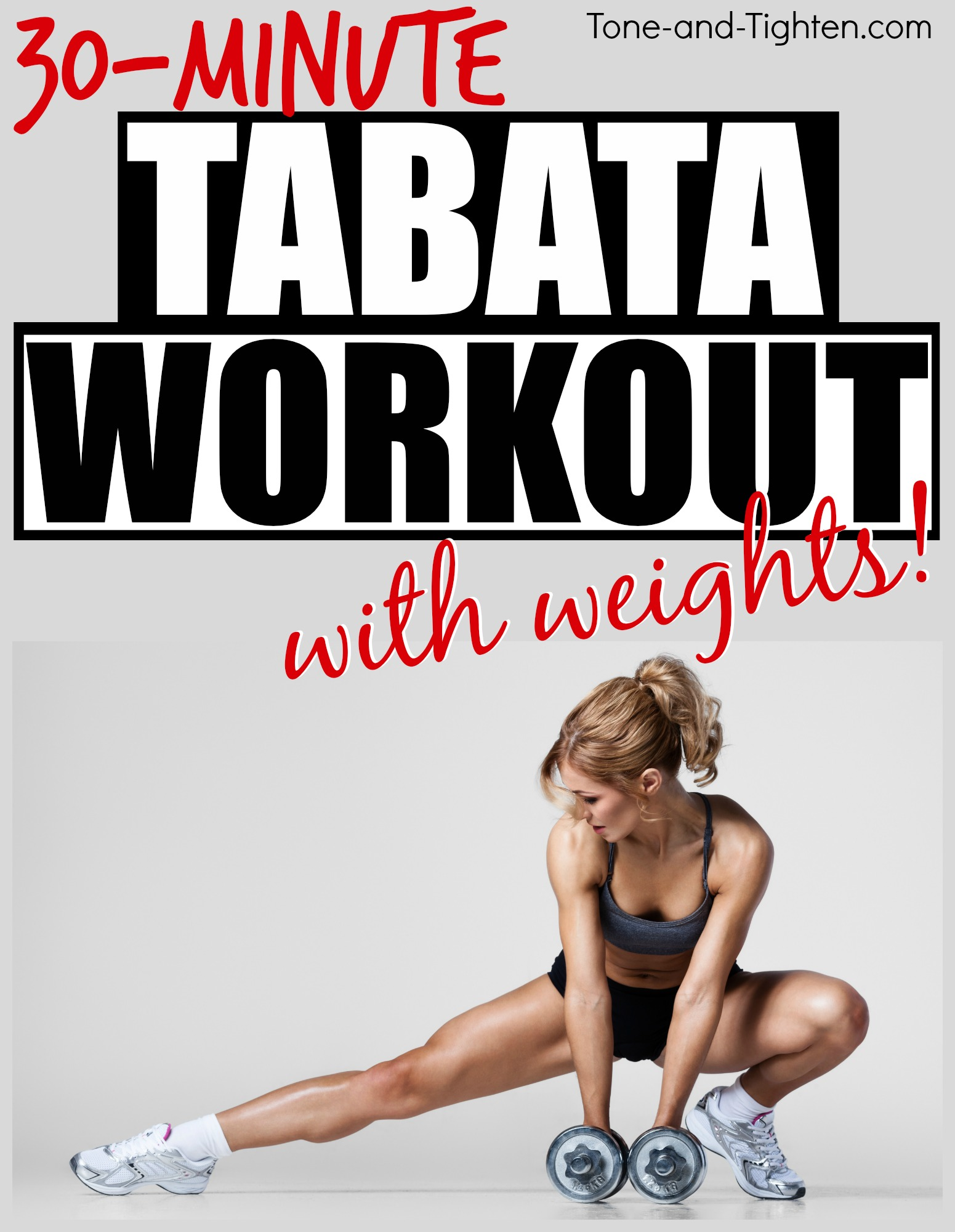30 Minute Tabata Hiit Workout With Dumbbells Weights