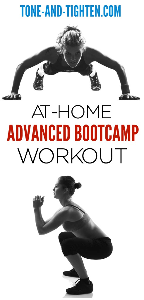 At Home Advanced Bootcamp Workout on Tone-and-Tighten