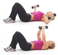 at home dumbbell chest flys bra fat exercise